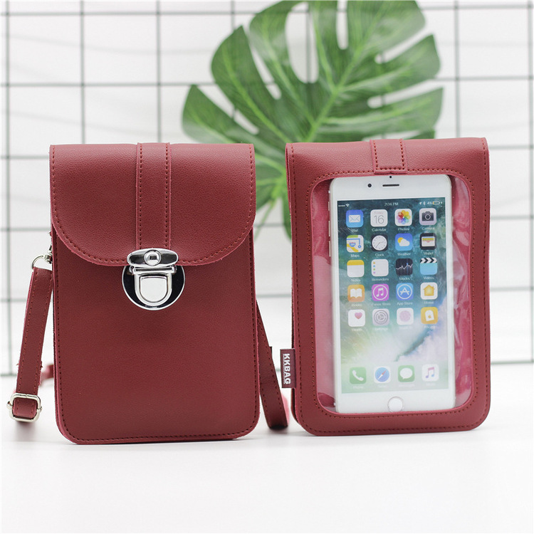 RED Touch Screen Purse With Clear Window Pockets | SHIPPING FAST THAN YOU CAN EVER IMAGINE