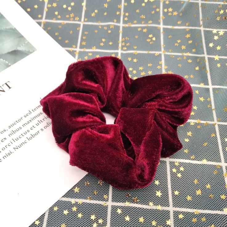 20PCS Velvet Elastic Hair Bands Scrunchy for Women or Girls Hair Accessories(Color Random)