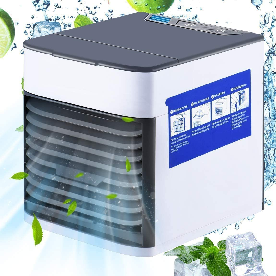 Arctic Air® Ultra Portable Air Cooler & Humidifier and Purifier, USB Desk Water Steam Spray Fan with 3 Speeds