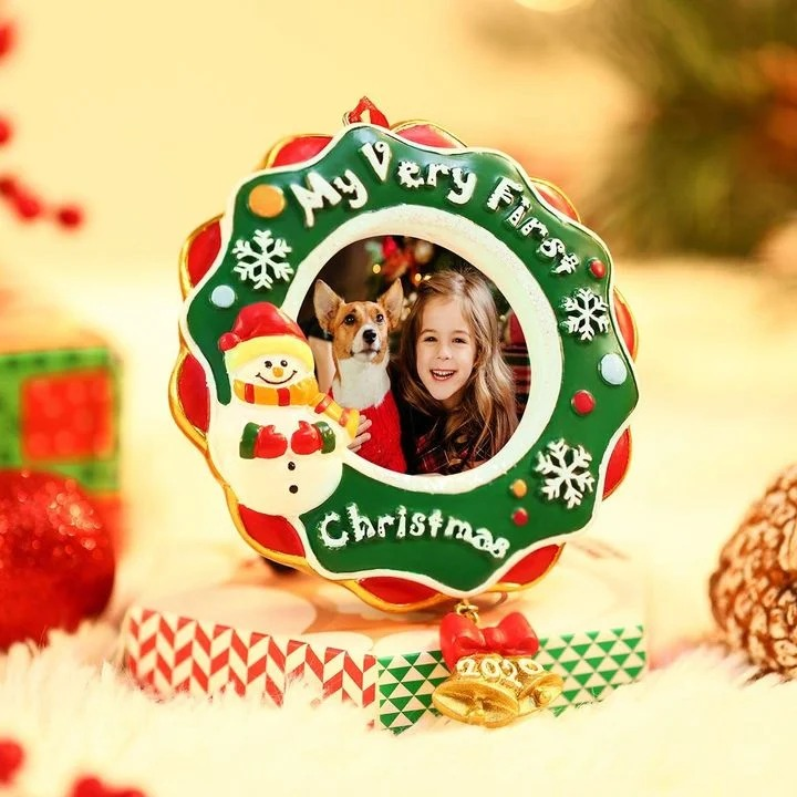 2020 Personalized Christmas Ornament Gifts Picture Frame Photo Plaque