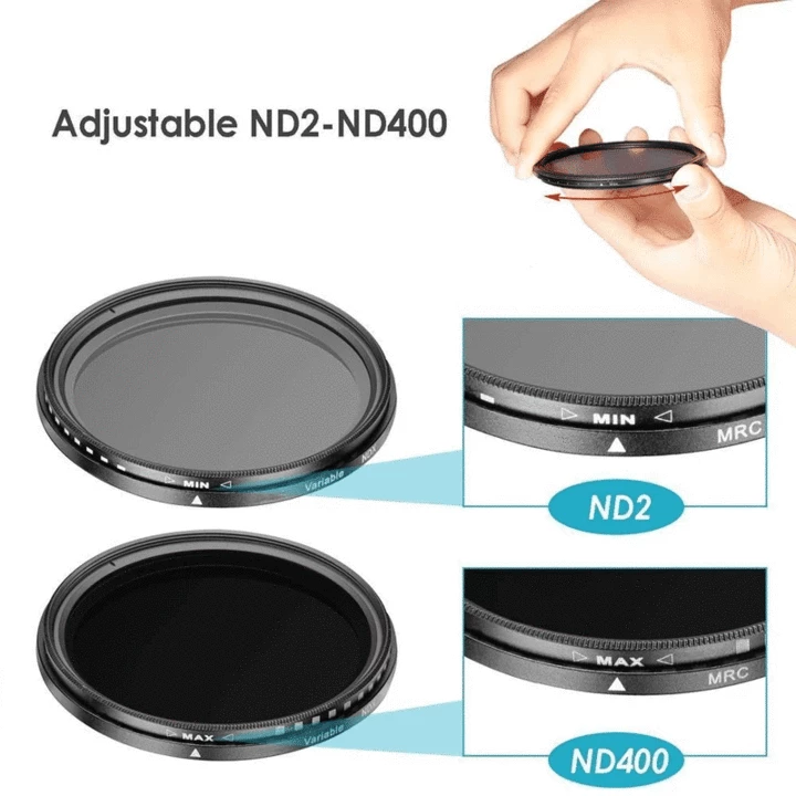 Professional Photography Adjustable ND Filter ND2-400