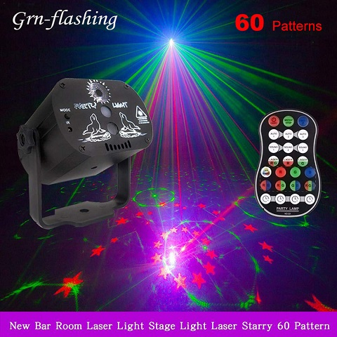 Free Shipping Today—60 Patterns RGB LED Disco Light