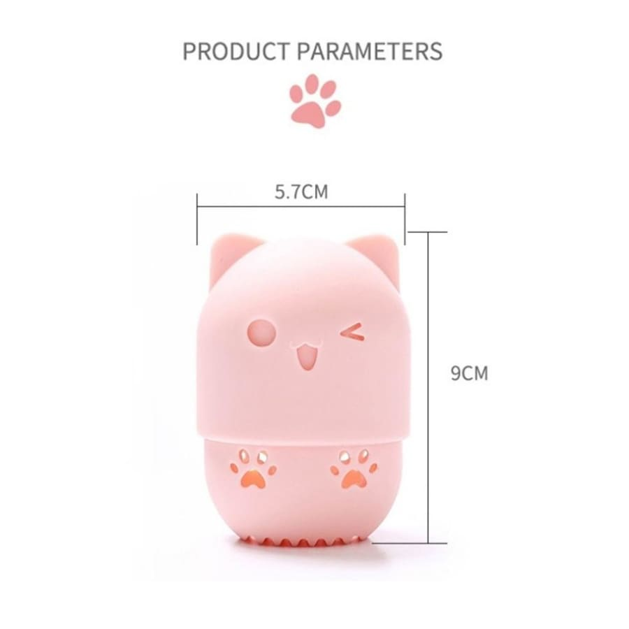 Cartoon Portable Silicone Soft Cosmetic Box Puff Case Makeup Egg Case Powder Puff Blender Holder
