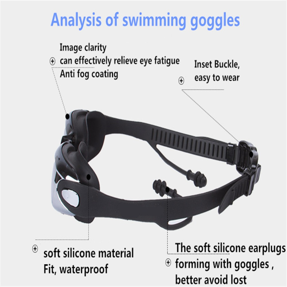 Professional myopia Anti-fog Swimming Goggles