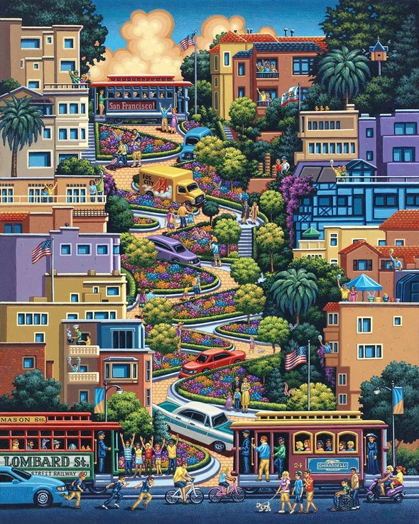 Lombard Street puzzle - 500/1000 PIECE