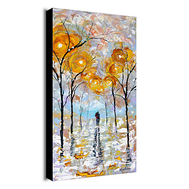 Hand-Painted Abstract Canvas Oil Painting With Stretcher For Home Decoration Ready to Hang