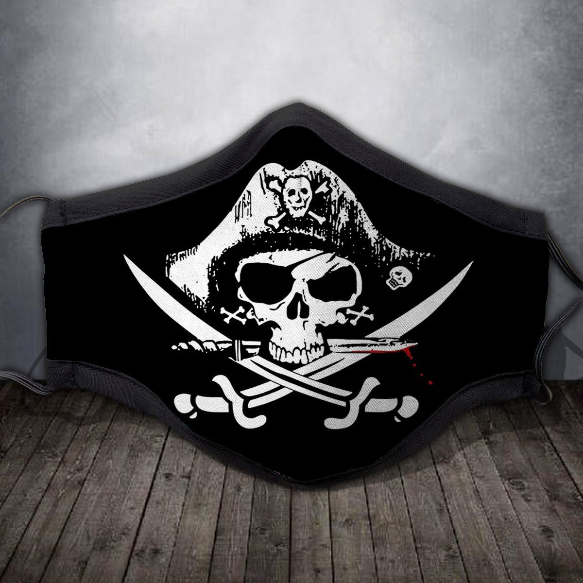 PIRATE SKULL Fabric Face Mask