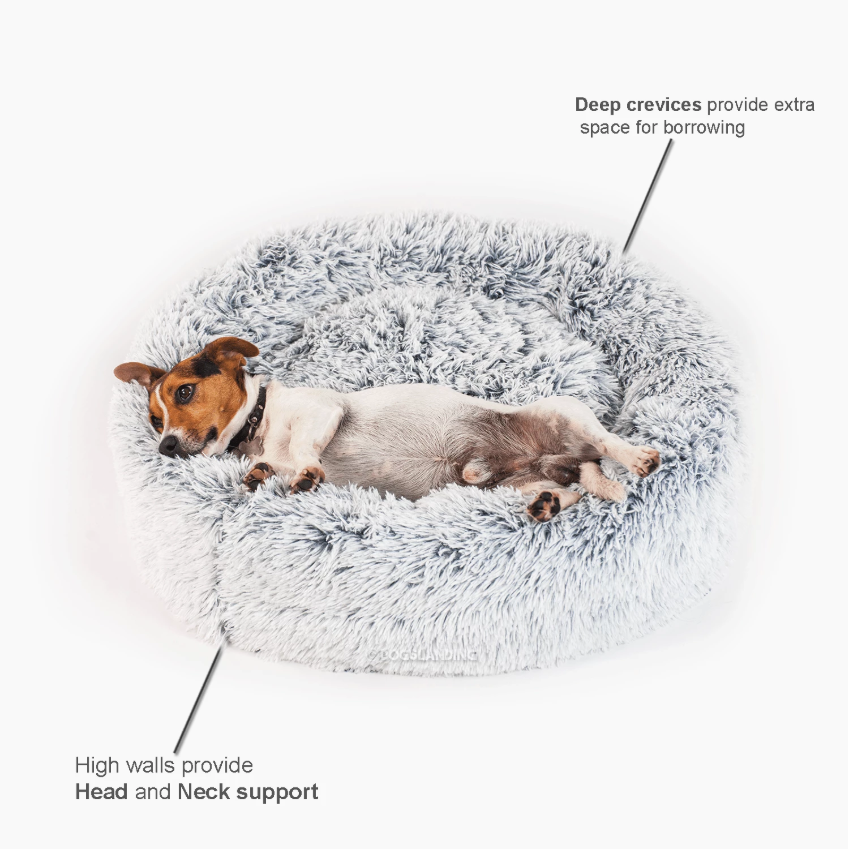 【🔥HOT SALE!!🔥 - FOR YOUR ADORABLE FAMILY MUMBER】Pets Donut Calming Bed