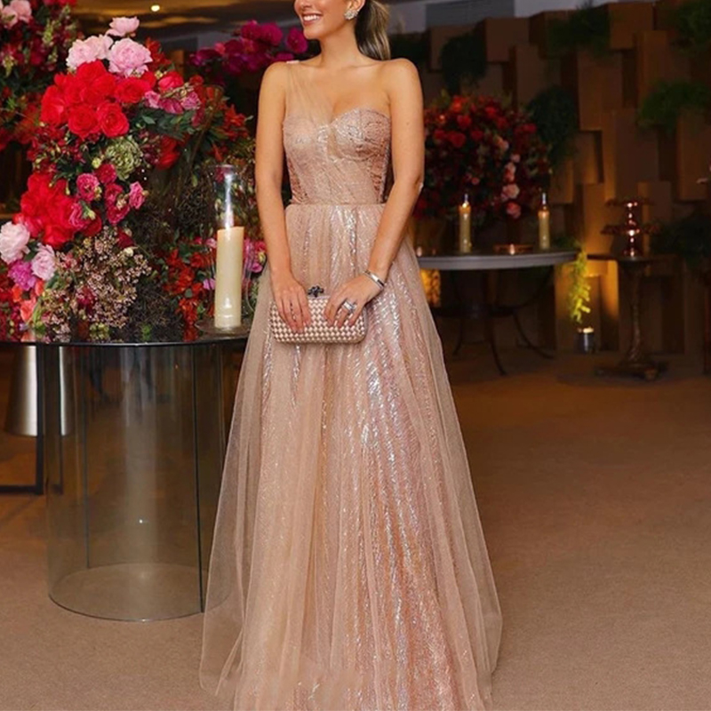 Sexy Off-The-Shoulder Fashion Evening Dress