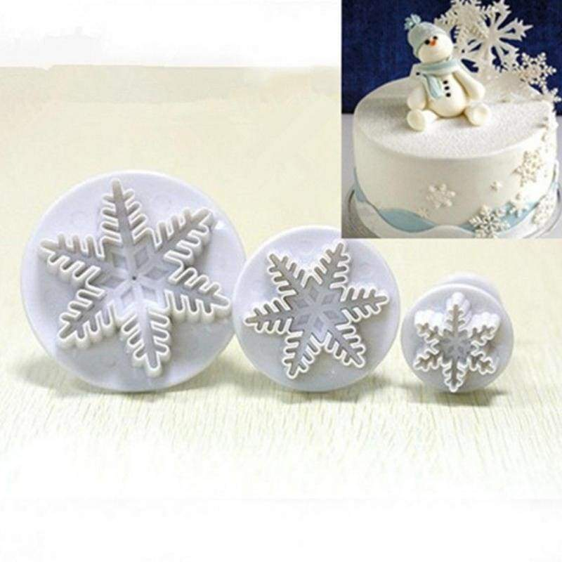 Pastry tools 3pcs snowflake plunger cake decoration