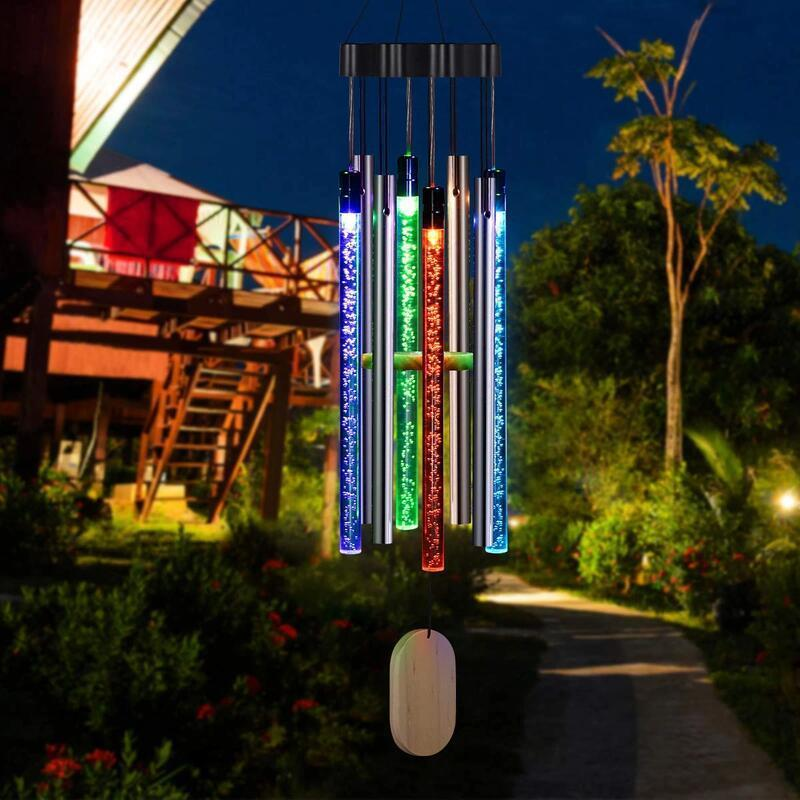 Solar Powered Musical Wind Chimes