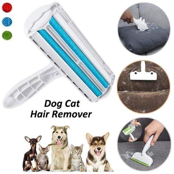 Green/Blue/Red Reusable Pet Hair Cleaning Sticky Hair Brush Rug Carpet Cleaner Pet Conditioner Pet Hair Care Cotton Wool Roller