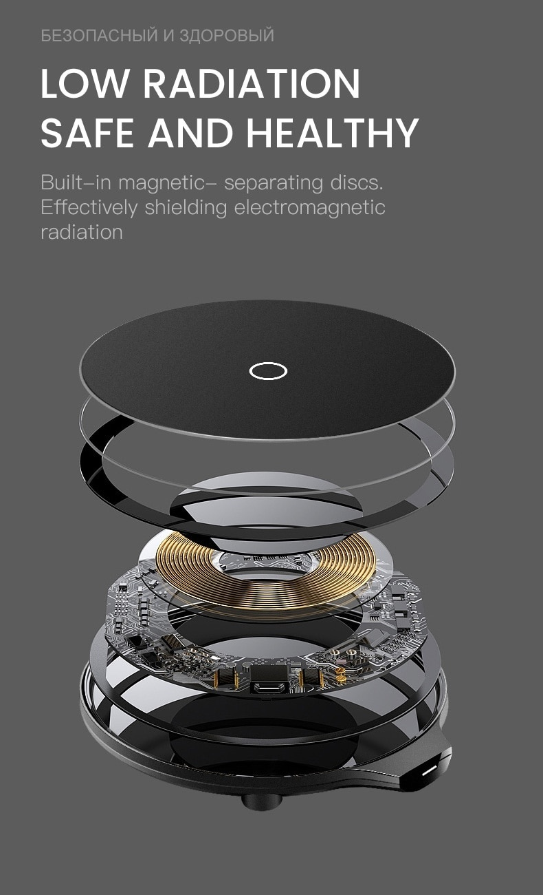 10W Fast Qi Wireless Charger for iPhone X Xs MAX XR 8 Charging Wireless for Samsung Xiaomi Huawei USB mobile Phone Charger Pad