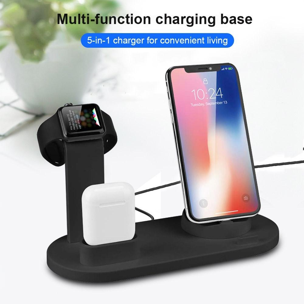 FDGAO 3 In 1 Portable Charger Stand Multi Function Usb Charger Charging Dock Station for Apple Watch Apple Airpods All Mobile Phone