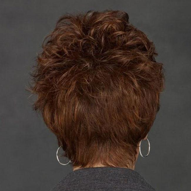 KAMI 029 Short Curly Wigs Synthetic Wig for Old Lady