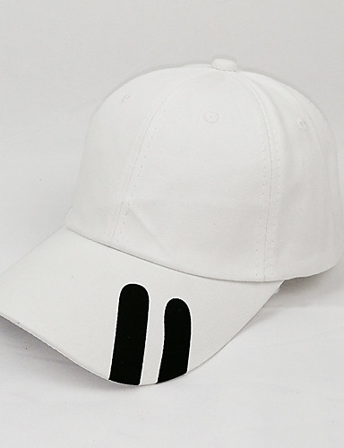Men's Women's Active Basic Cute Cotton Baseball Cap-Solid Colored Spring All Seasons White
