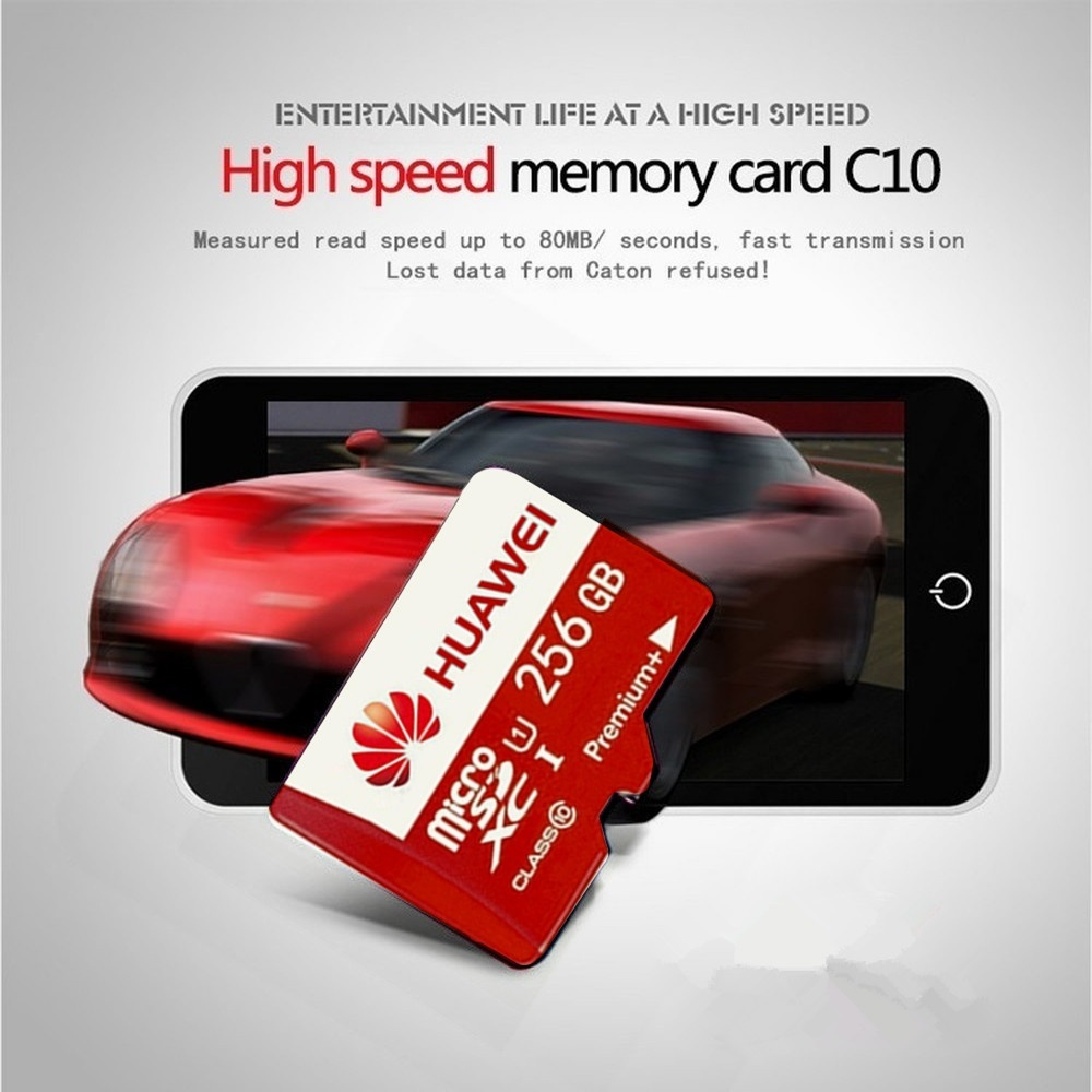 HUAWEI High Speed 256GB 128GB 64GB USB Drive Micro SD Micro SDHC Micro SD SDHC Card Class 10 UHS-1 TF Memory Card