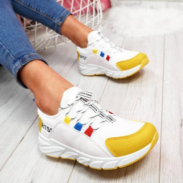 Lemmikshoes Lace-Up Chunky Sneakers