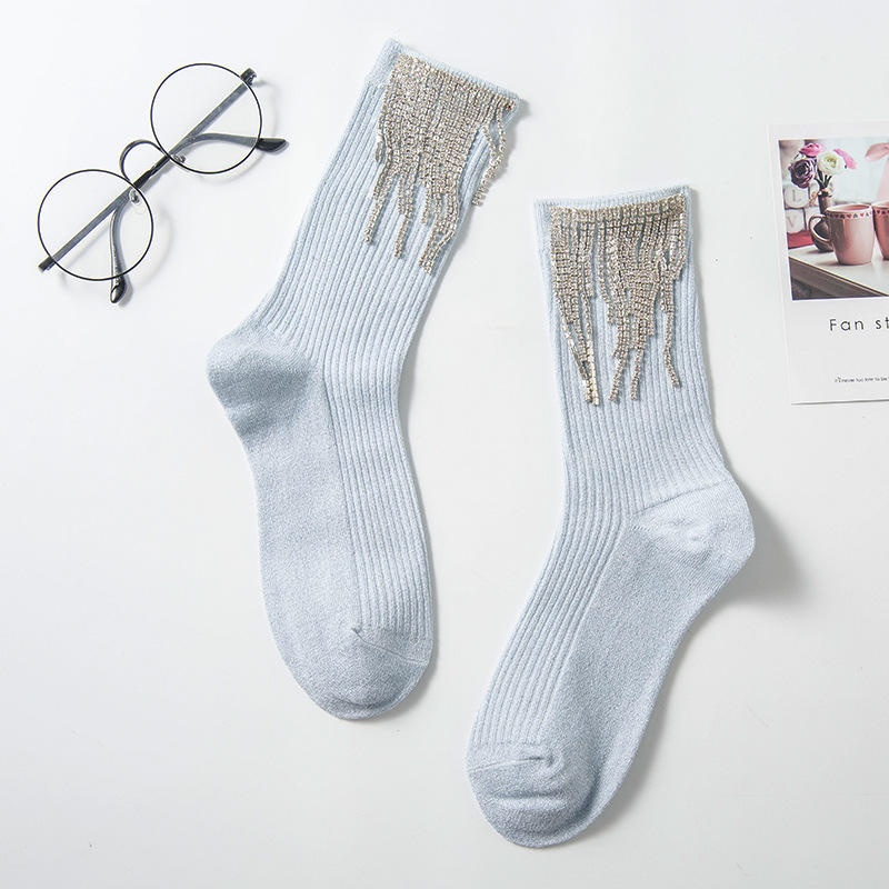2020 Latest Women Sparkly Diamond Tassel  Winter Wool Socks[BUY 3 FREE SHIPPING]