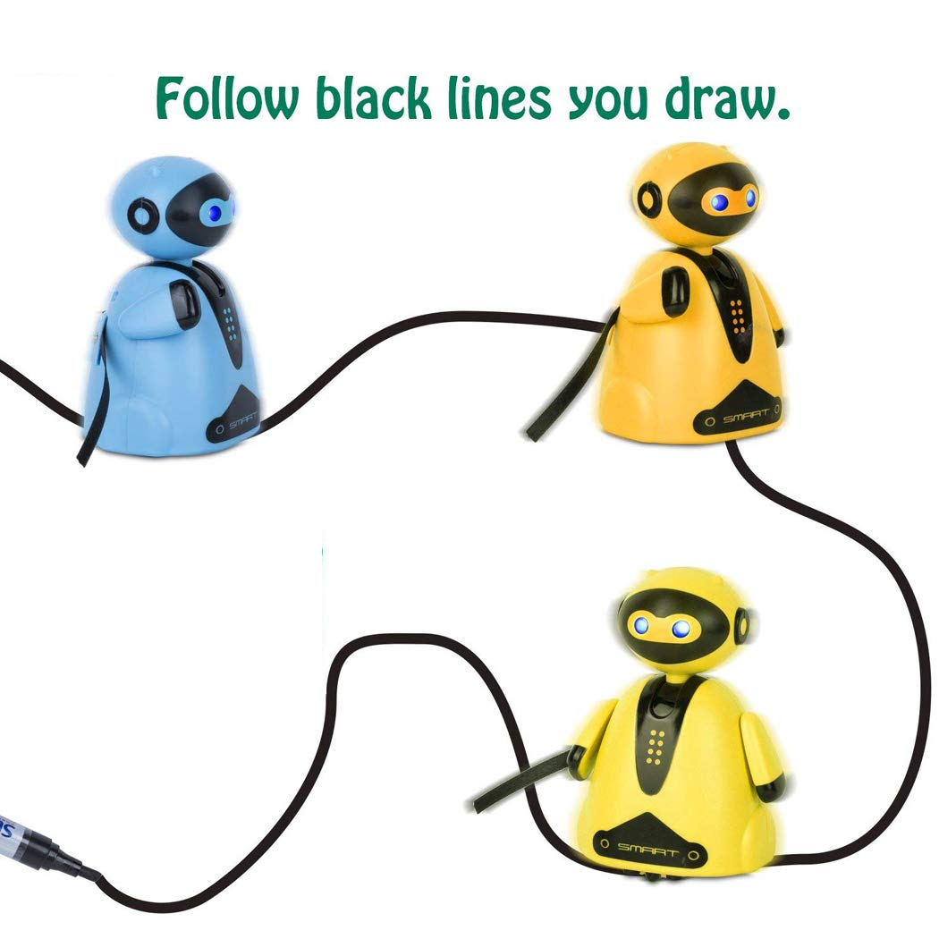 SKRTEN Follow Drawn Line Robot Magic Pen Auto-induction Toy Gift for Kids