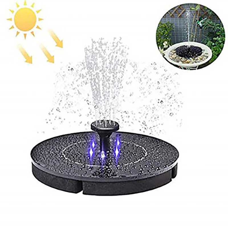 with led light Solar fountain pump suspended outdoor pool water floating fountain lamp power storage LED lamp fountain warm white RGB colourful