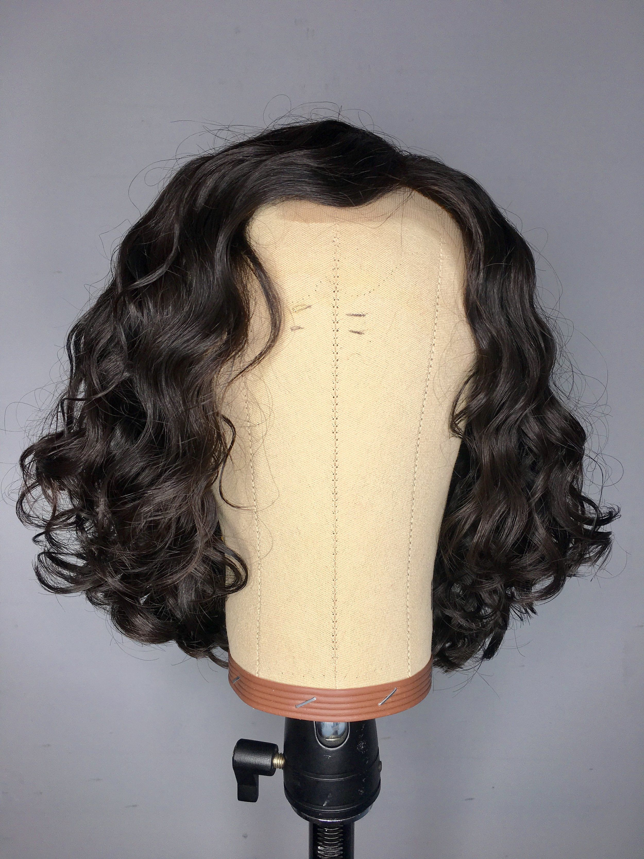Black Wigs For Black Women Exotic Wave Hair Natural Wave Lace Front Wigs Human Hair Black Wig With Bangs Deep Wave Drawstring Ponytail