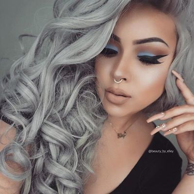 2020 New Gray Hair Wigs For African American Women Going Grey Young Lace Closure Wig Gray Hair Braids Princess Diana Wig Luna Lovegood Wig