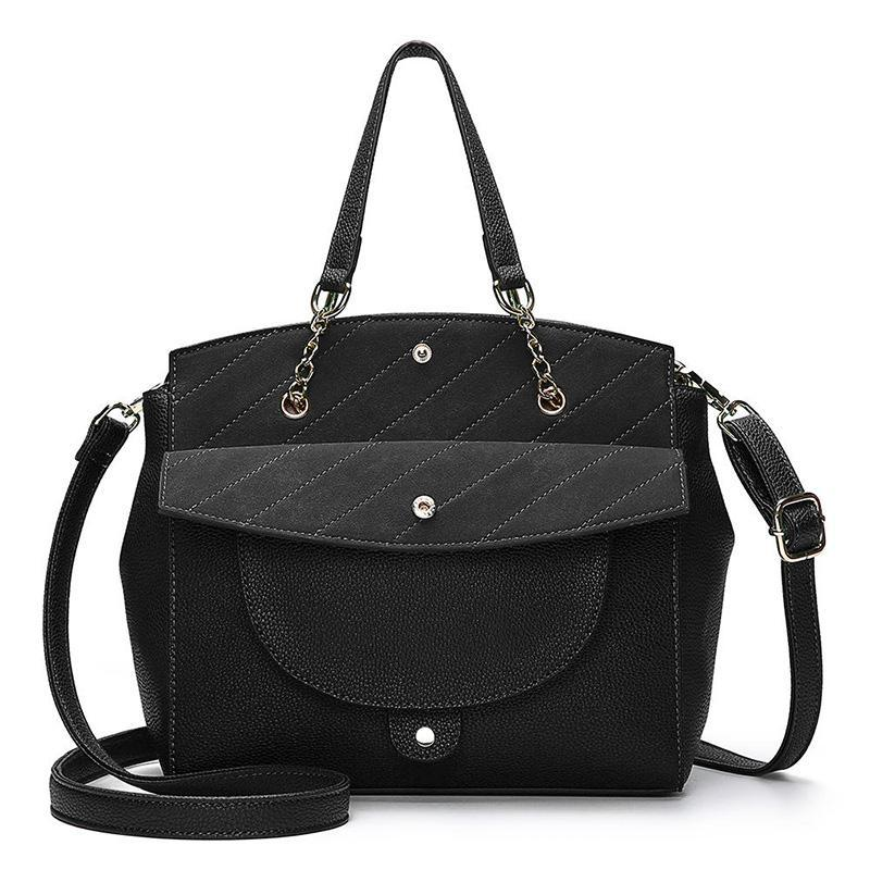 Women Multifunction Patchwork Flap Crossbody Bag