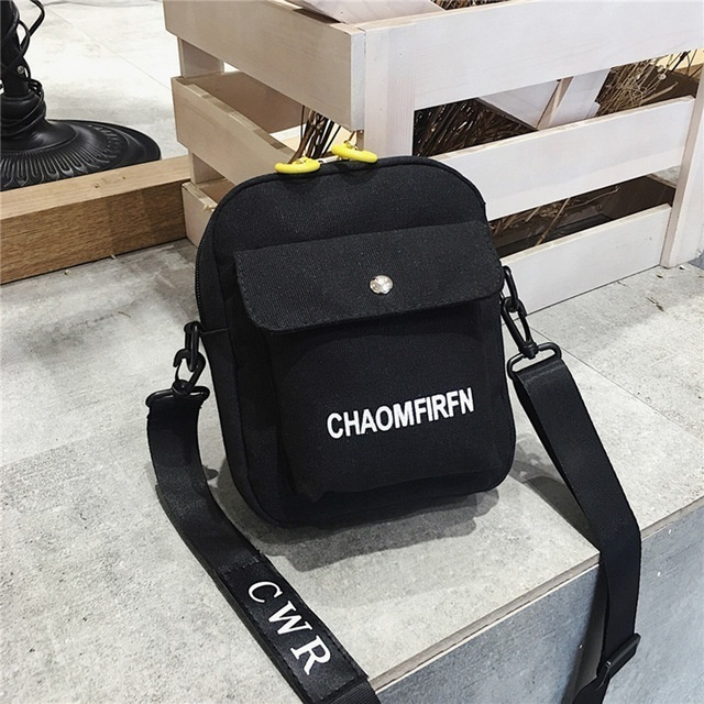 2019 Fashion Women's Shoulder Bag New Design Pure Color Casual Tote Outdoor Bag Canvas Handbag Zipper Messenger Messenger Bags Woman's Handbag