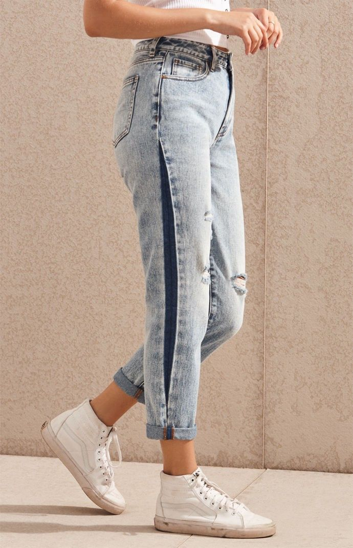 Bottoms Jeans For Women 2020 New Yoga Wear Sexy Clothes Side Stripe Trousers Denim Trousers Dinner Dress Jean Capris