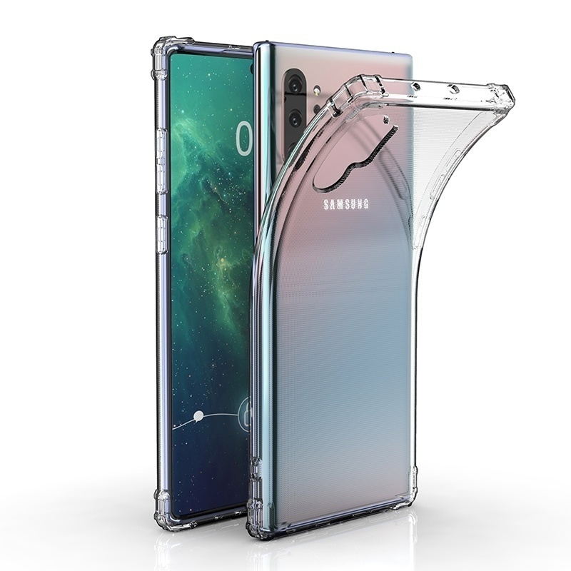 For Samsung Galaxy Note 10/ Note 10 Plus/ S10/ S10+/ S10e/ S9/ S9+/ S8/ S8 Plus/ Note 8 New Clear Soft Anti- Fall Shockproof Protective Back Case Cover