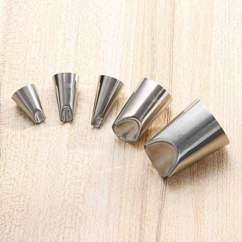 1 PC/5 PCS Pastry Baking Flowers Icing Piping  Tips Russian Nozzle Stainless Steel Juju Tulip