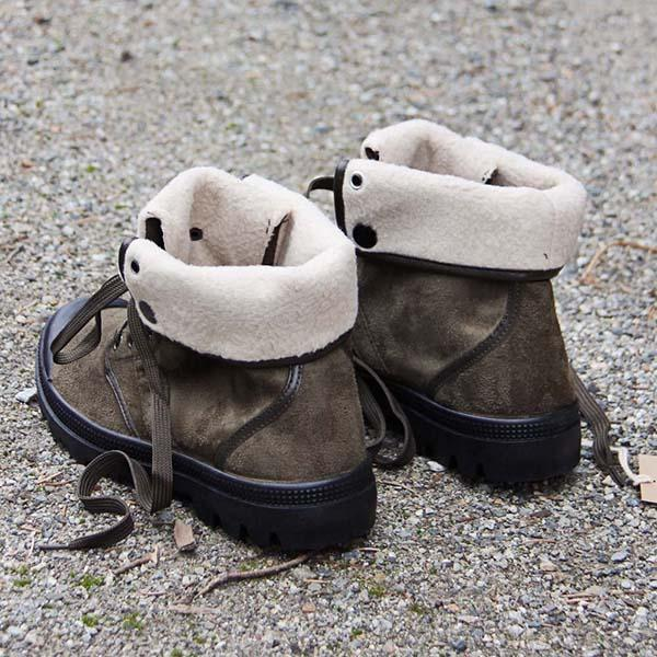 Corashoes Cozy Flap-over Top Nubby Sole Boots