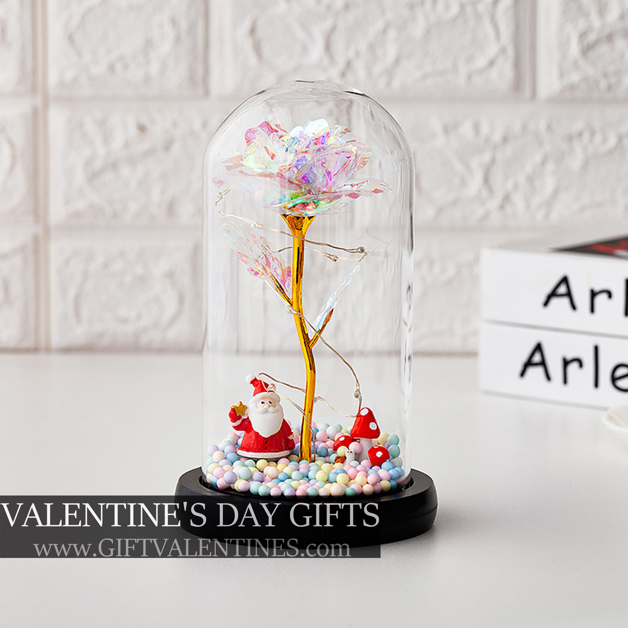 Santa | Forever Galaxy Rose With LED Lights