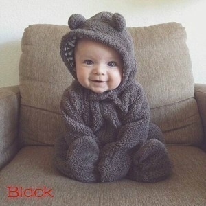 Autumn and Winter Fashion Newborn Baby Clothes Infant Baby Romper Infant Girl Cute Rabbit Boy Baby Bear Romper Kid Jumpsuit Clothing 0-3Y
