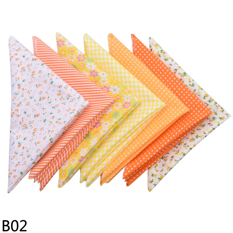 7Pcs 50x50cm Printed Cotton Fabric Cloth Sewing Quilting Fabrics for Patchwork Needlework DIY Handmade Accessories Doll Clothes