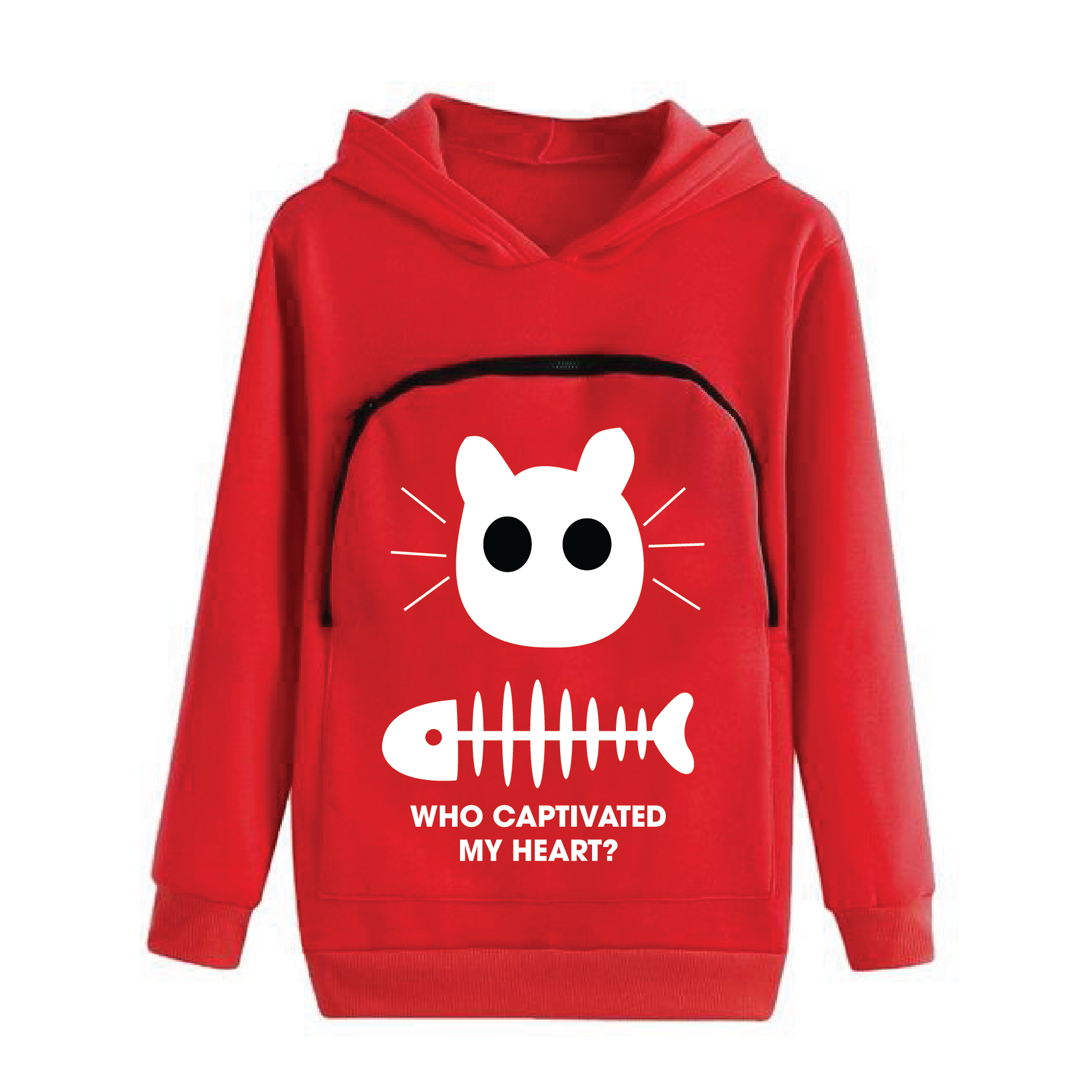 Cat Lovers Hoodie Cuddle Pouch ( Who Captivated My Heart? )