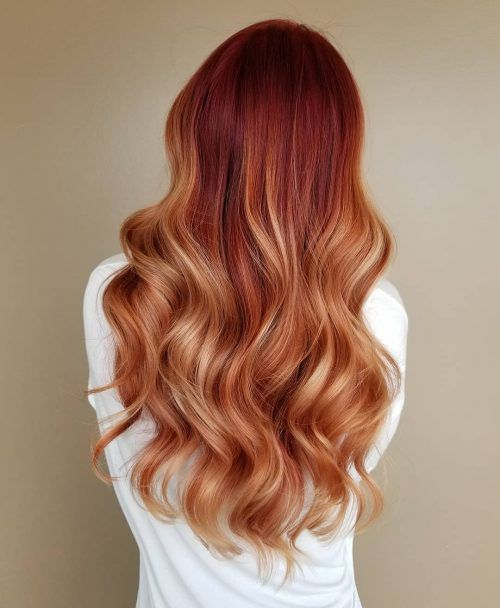 Lace Frontal Wigs Red Hair Red Dip Dye Hair Orange And Yellow Wig Pixie Cut With Long Bangs Best Curling Irons Free Shipping