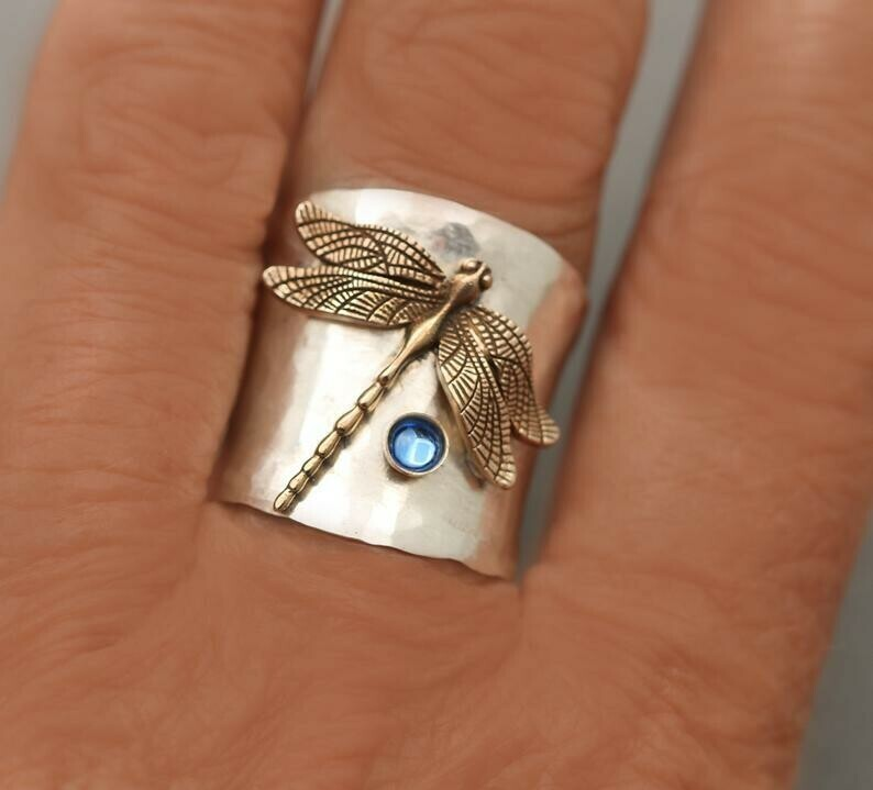 Dragonfly Sapphire Ring