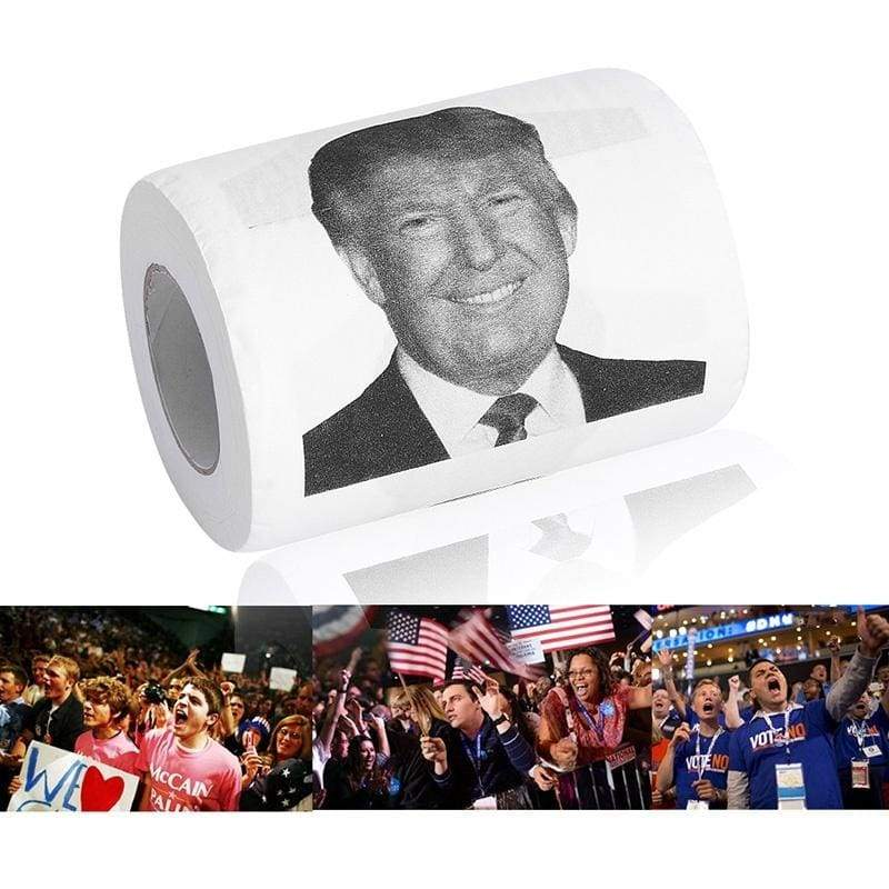Father 's Day gift Donald Trump Smile Santa 2/3ply 150 Sheets Toilet Paper Roll Novelty Funny Gag Gift