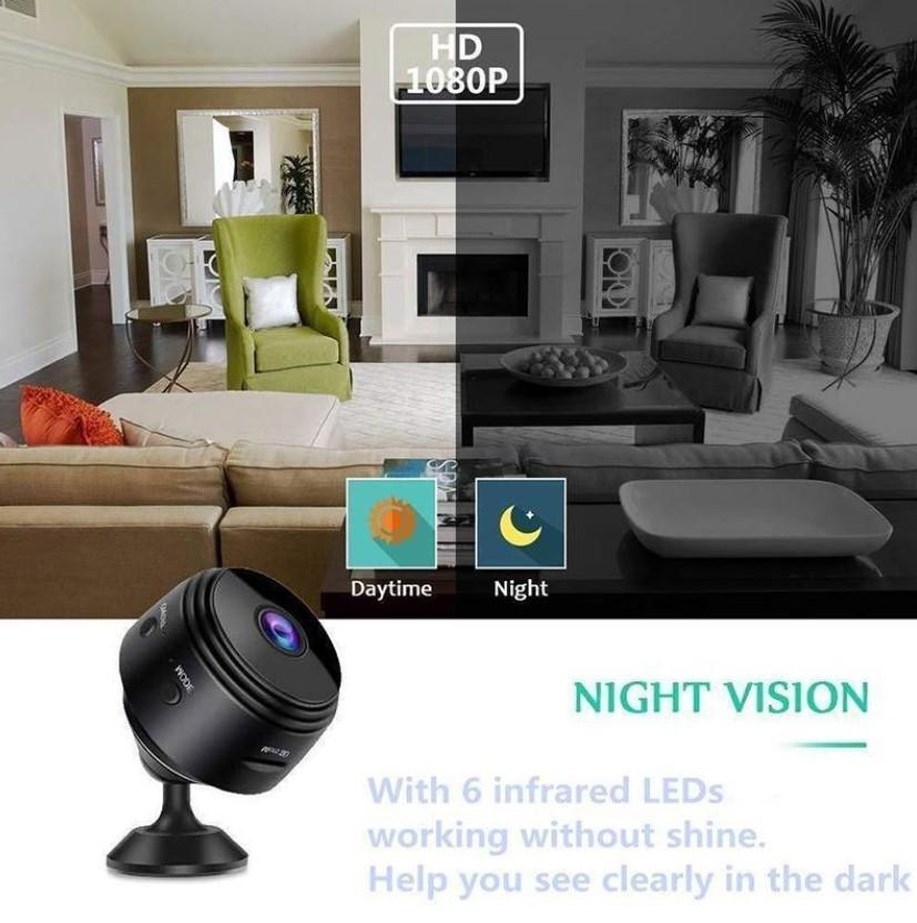 Mini HD 1080P Wireless Hidden Camera,Home WiFi Remote Security Cameras,Smart Motion Detection ,Instant Push Notifications, Remote Playback,Magnetic Feature,Night Vision Spy Camera