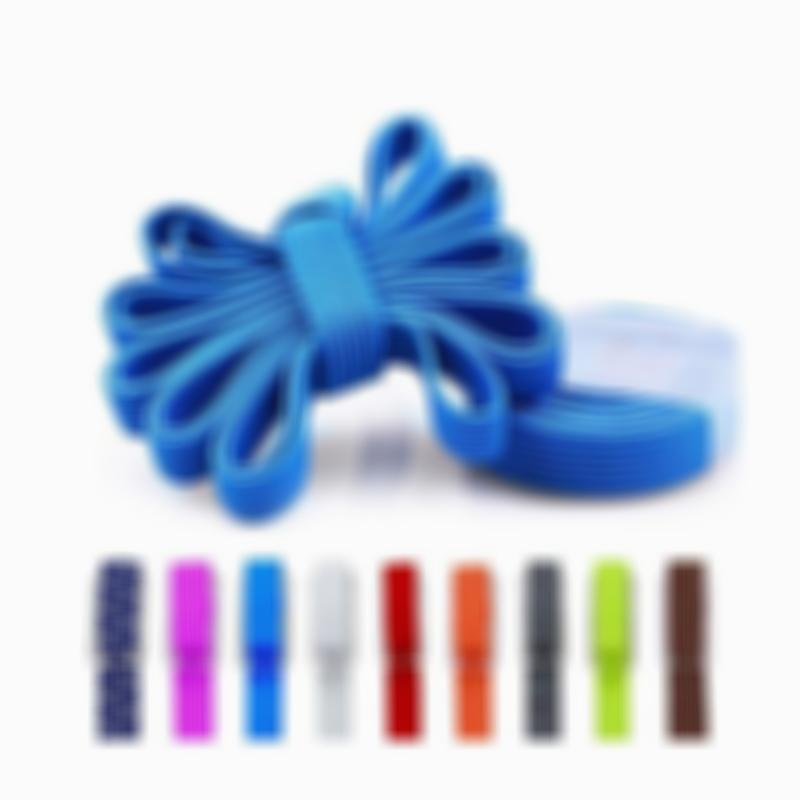 One Size No Tie Flat Elastic Shoelaces for Adults Kids