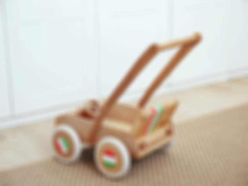 Toy Push Cart  - Toddler Walker - Wooden Walker Cart - Toy On Wheels - Cart carriage stroller Toy -Wooden Car - Toy Truck - Wooden Baby toys