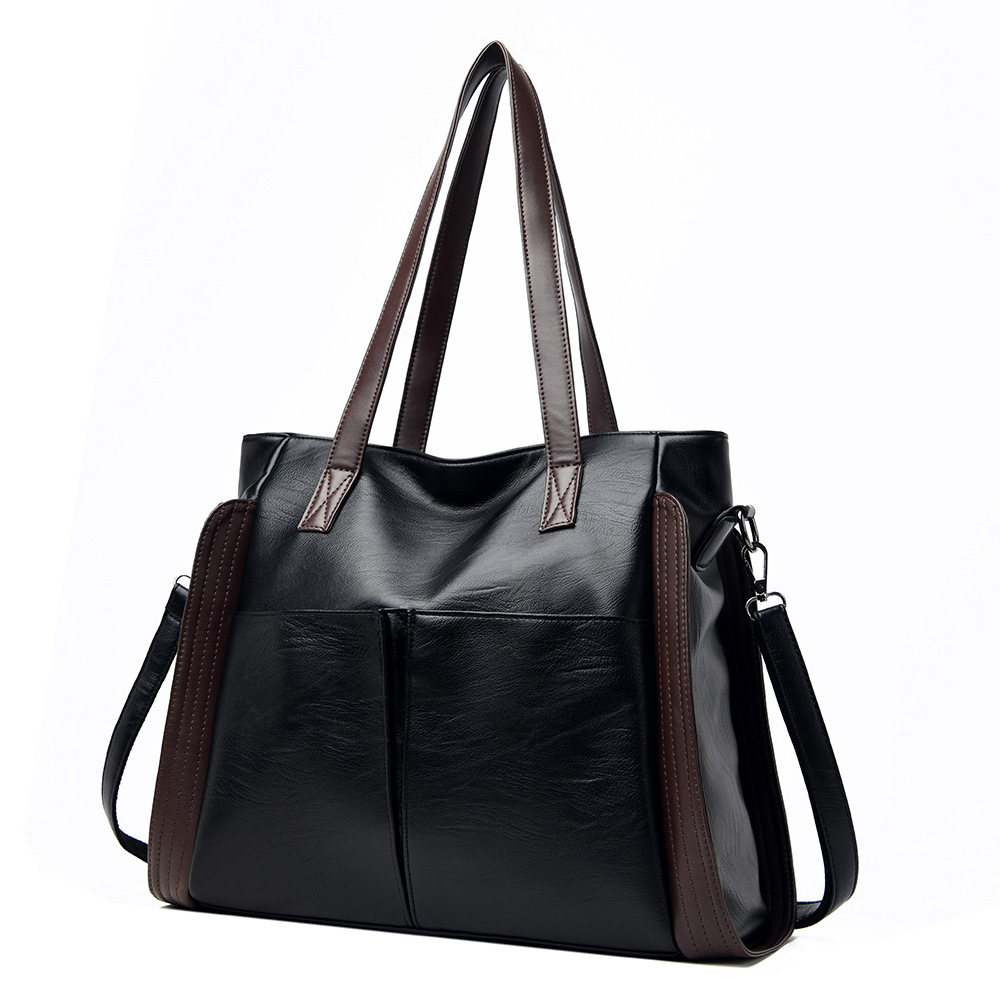 New trendy soft leather big bag Fashion handbag shoulder bag messenger bag