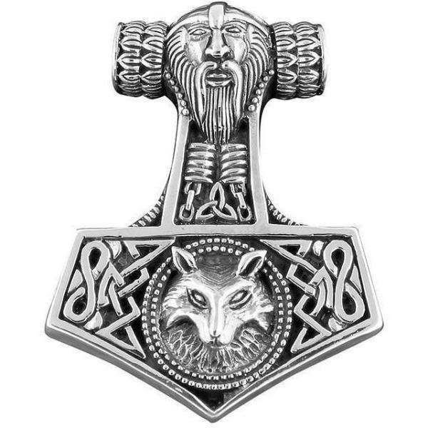 925 Sterling Silver Mjolnir Charm Pendant (Small)