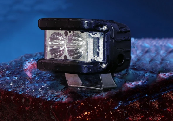 Motorcycle LED Headlight - Perfect Spot Beam & Flashing Warning Lights Improves The Safety