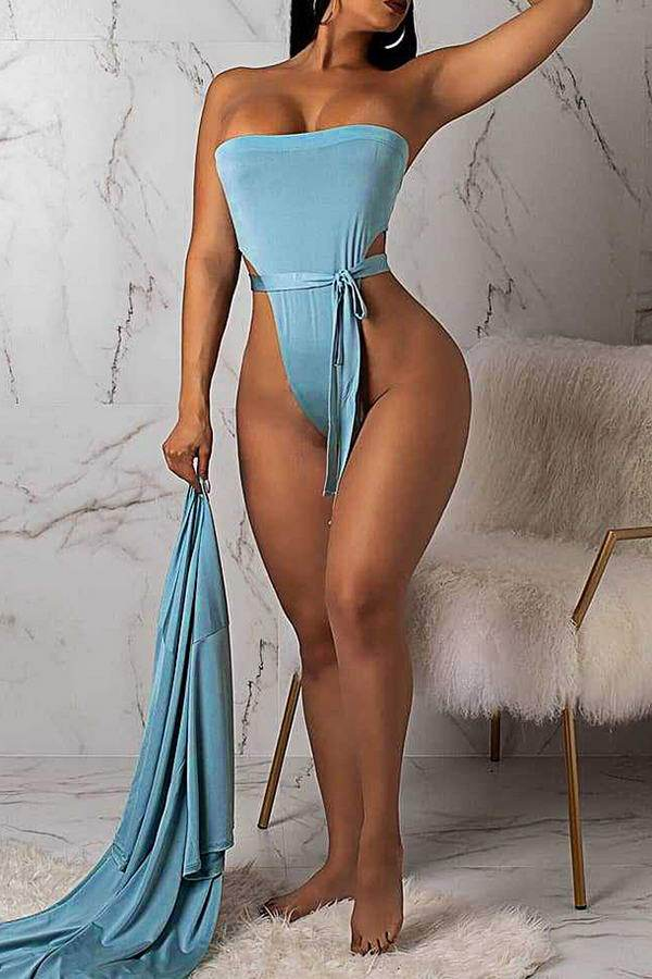 Belted Swimsuit & Robe