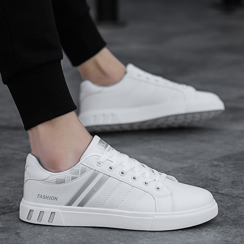 Comfortable leather casual sneakers