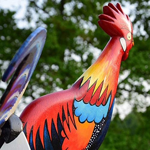 Handmade rooster weather vane decoration