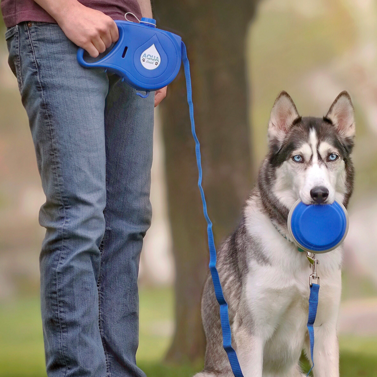 5 in 1 Dog Leash With Built-in Water Bottle Bowl & Waste Bag